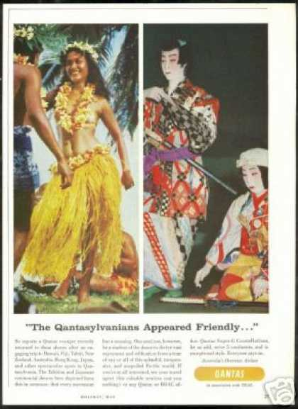 Qantas Airlines Tahitian Japanese Dances (1957)