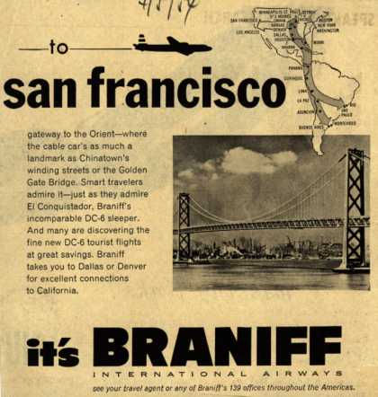 Braniff International Airway's San Francisco – To San Francisco (1954)