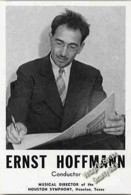 Ernst Hoffman Photo Conductor Houston Symphony (1945)