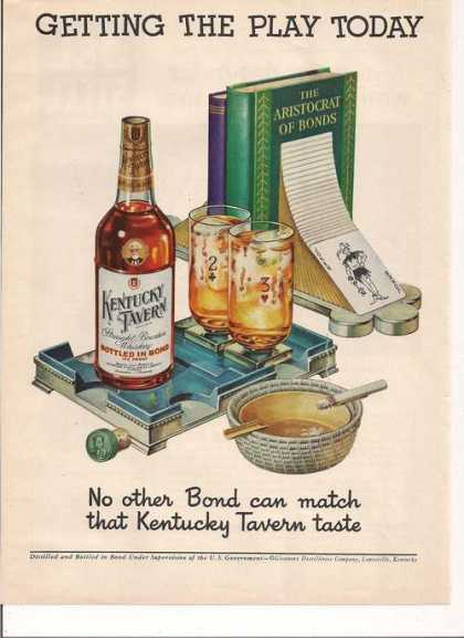 The Play Today Kentucky Tavern Whiskies (1950)