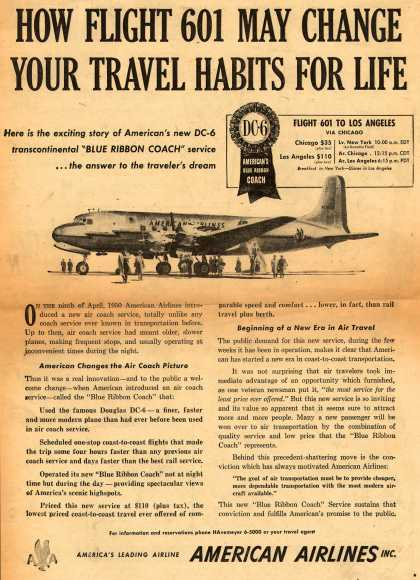 American Airlines – How Flight 601 May Change Your Travel Habits For Life (1950)