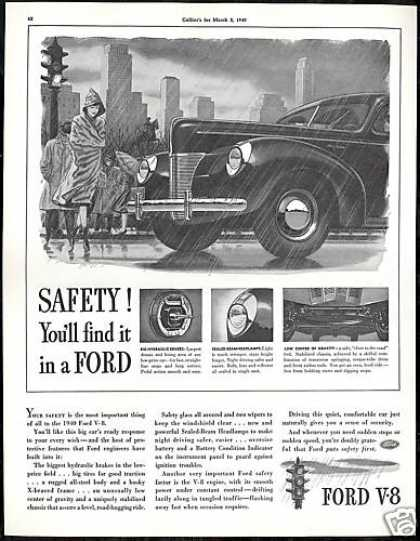 Ford Car V-8 Safety Vintage (1940)