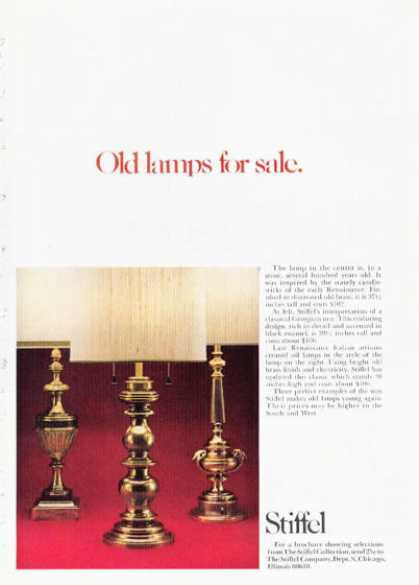 Stiffel Designer Renaissance Lamps (1972)