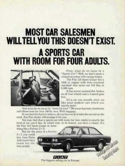 Fiat 124 Sport Coupe for Four Adults (1980)