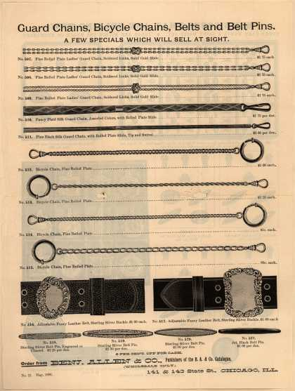 Benjamin Allen & Co.'s chains and belts – Guard Chains ... (1896)