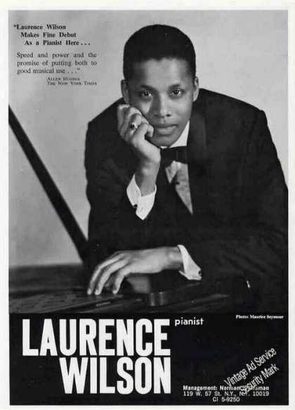 Laurence Wilson Photo Pianist Booking (1967)