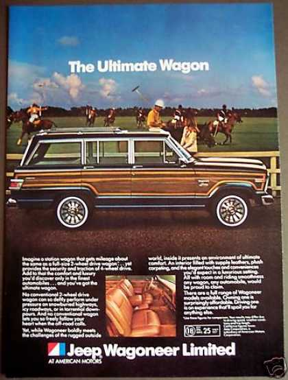 Wagoneer Limited Car Station Wagon Horses Polo (1981)