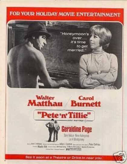 "Movie Ad ""Pete 'n' Tillie"" Carol Burnett (1972)"