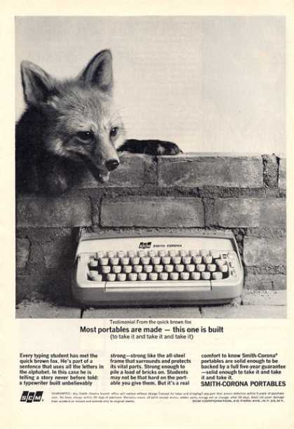 Smith Corona Portable Typewriter (1964)