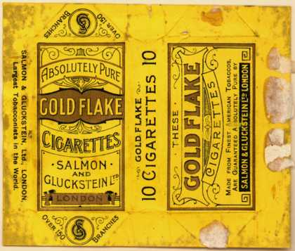 Salmon and Gluckstein Ltd.'s Cigarettes – Gold Flake Cigarettes