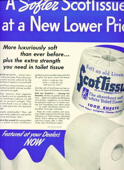 Scottissue Toilet Paper C (1940)