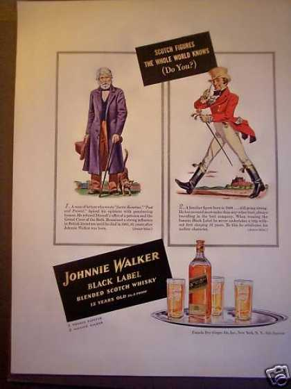 Johnnie Walker Whisky Thomas Carlyle (1940)