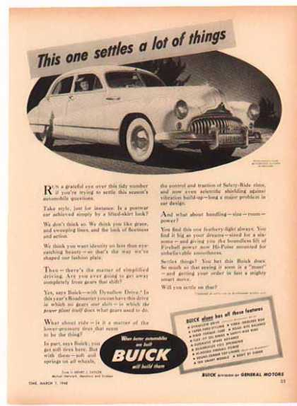 Buick Car – This one settles a lot of things. (1949)