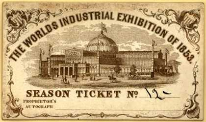 World's Industrial Exhibition of 1853 – The World's Industrial Exhibition of 1853 – Season Ticket (1853)