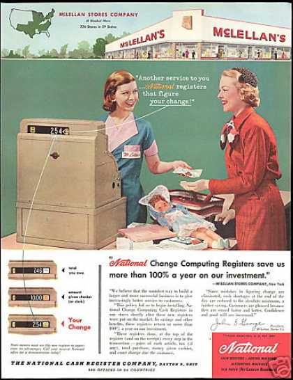 NCR National Cash Register McLellan's Employee (1957)