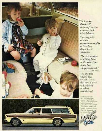 Ford Station Wagon With Young Children (1966)