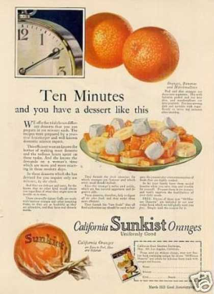 Sunkist Oranges Color (1925)