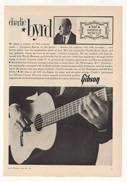 Charlie Byrd Gibson Classic Electric Guitar (1963)