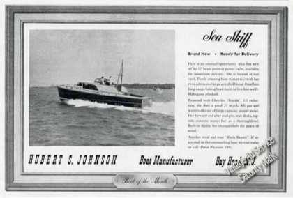 Sea Skiff 45 Photo Hubert Johnson Bay Head Nj (1947)