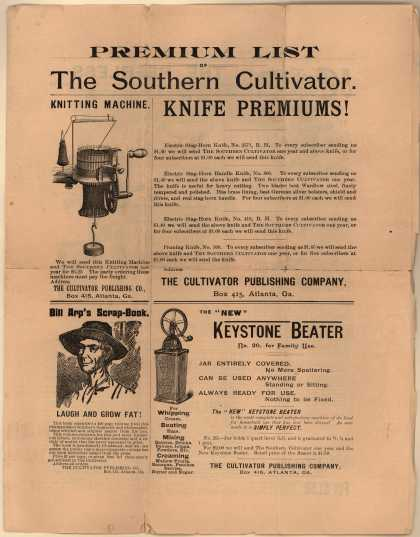 Cultivator Publishing Company's Southern Cultivator – Premium List of the Southern Cultivator