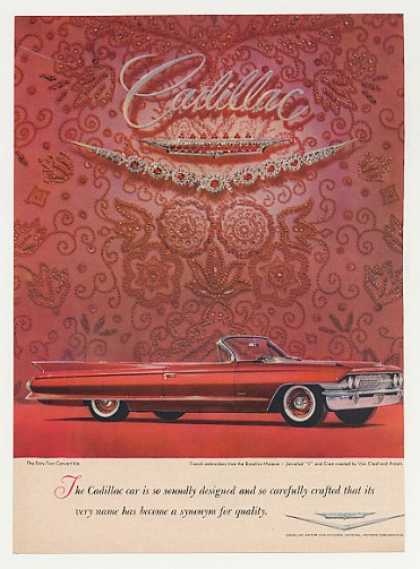 Red Cadillac Sixty-Two Convertible Van Cleef (1961)