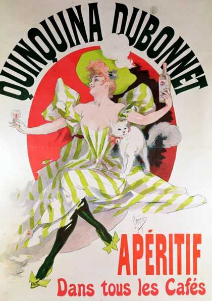Poster Advertising &quot;Quinquina Dubonnet&quot; Aperitif (1895)