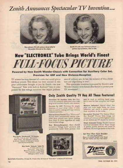 Zenith Television – Full Focus Picture / Chicago, Illinois (1951)