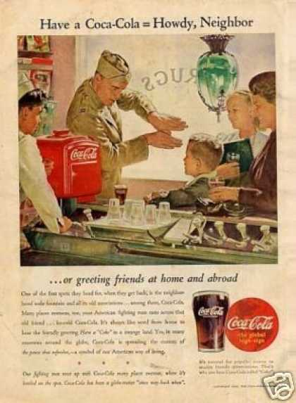 "Coca-cola Ad ""Greeting Friends at Home... (1944)"