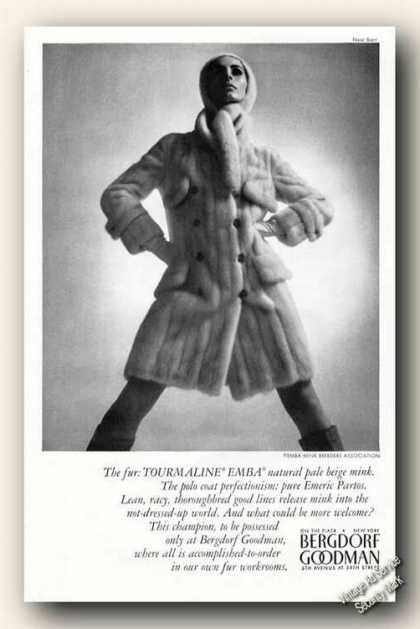 Emba Mink Photo Bergdorf Goodman Fashion (1966)