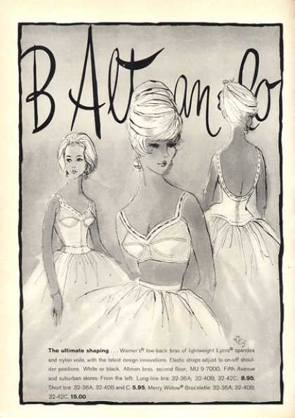 B Altman Co. Warner Spandex Bra Fifth Ave (1963)