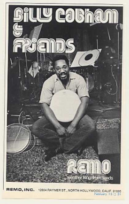 Billy Cobham Remo Drum Heads Photo (1975)