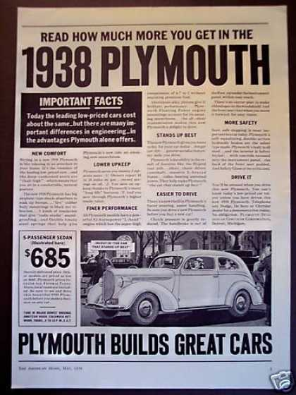 Plymouth Car Auto (1938)