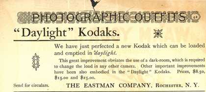 Kodak &#8211; Photographic Outfits &quot;Daylight&quot; Kodaks. (1892)