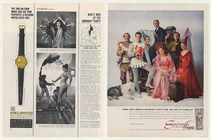 Moss Hart Cast of Camelot Smirnoff Vodka (1961)