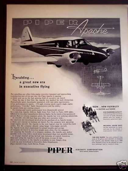 Piper Aircraft Apache Airplane Plane (1956)