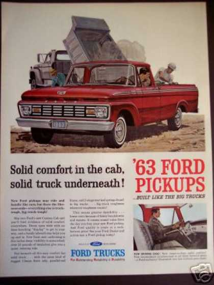Ford Red Pickup Pick-up Truck (1963)