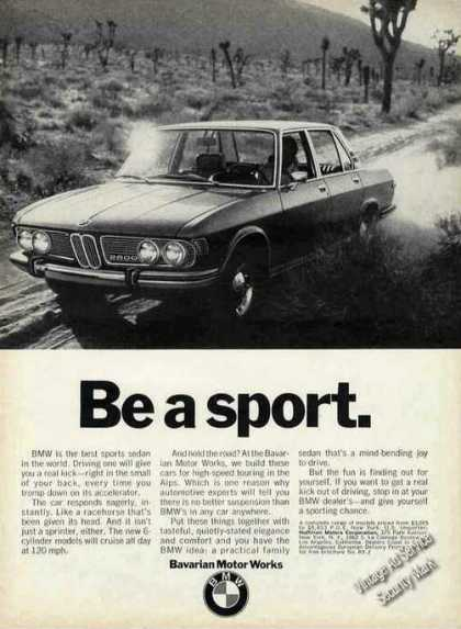 "Bmw 2800 Photo ""Be a Sport"" Car (1970)"
