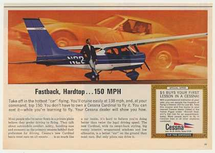 Cessna Cardinal Airplane Chevy Corvette (1968)