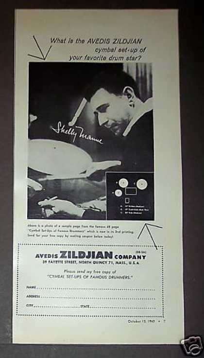 Shelly Manne Photo Zildjian Cymbals (1960)