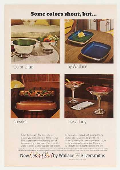 Wallace Silversmiths Color-Clad Bowls Compote (1968)