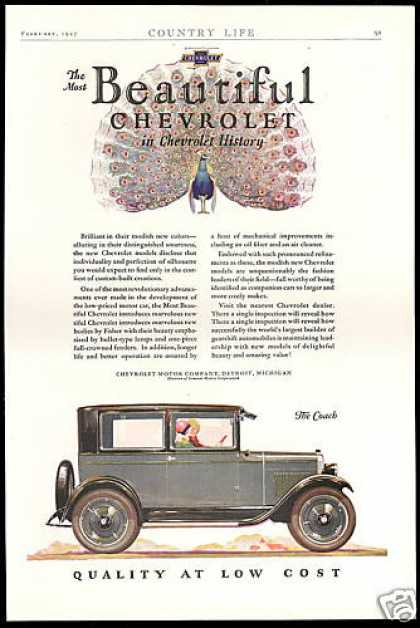 Chevrolet Coach Car Most Beautiful Peacock (1927)