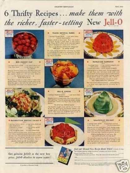 "Jello Ad ""9 Thrifty Recipes... (1934)"