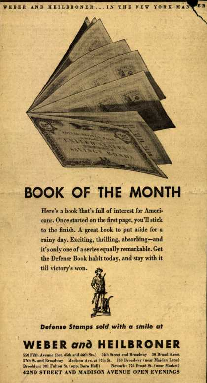 Weber and Heilbroner's War Bonds – Book Of The Month (1942)