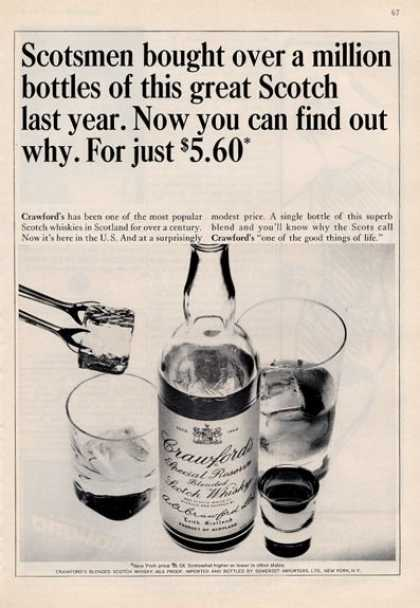 Crawford's Features Bottle & Glasses (1964)