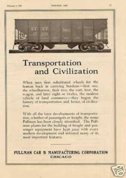 Pullman Car Ad Frisco (sl-sf) 2 Bay 55 Ton Hopper (1925)