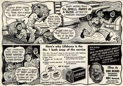 Lever Brothers Company's Lifebuoy Health Soap – Here's why Lifebuoy is the No. 1 bath soap of the service (1943)