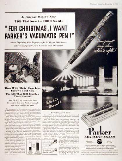 Parker Fountain Pen #3 (1933)