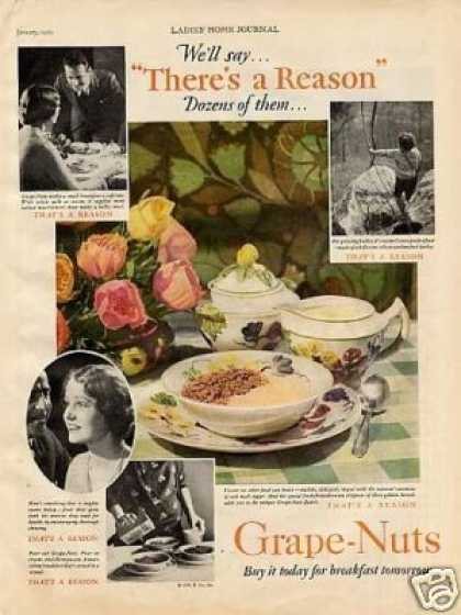 Grape-nuts Cereal Color (1929)