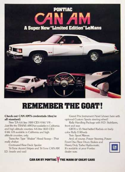 Pontiac Can Am Lemans (1977)