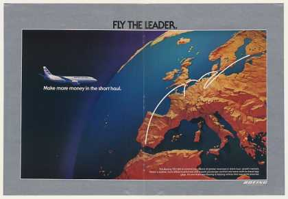 Boeing 737-300 Jet Aircraft Fly The Leader (1983)